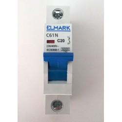 Wyłącznik nadmiarowoprądowy S301 B20 ELMARK